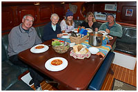 Sharing a Hearty Meal Aboard the Ocean Light II