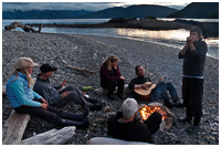 Beach Party on Remote Island, Gwaii Haanas