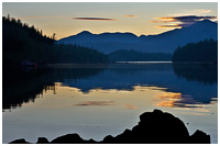 Rose Harbour at Sunset - southern Gwaii Haanas