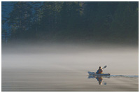Kayaking at Sunrise in Gwaii Haanas Park